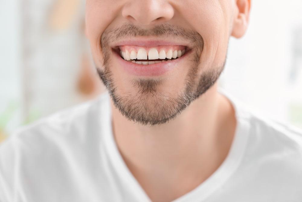 man smiling dental crown wareham ma