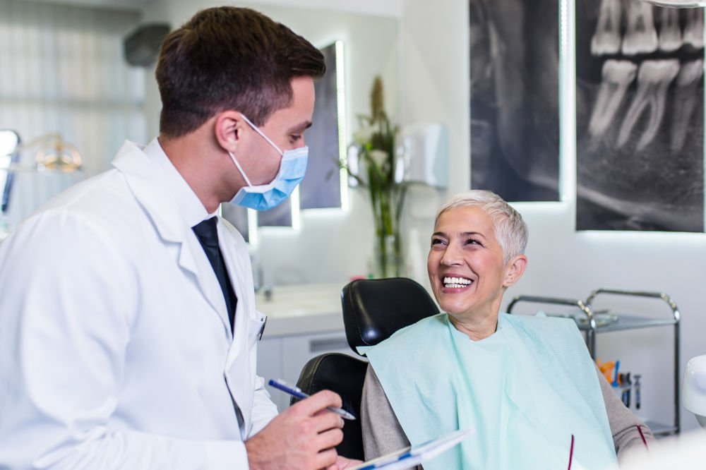 dentist with dental patient Wareham Dentist dental emergency