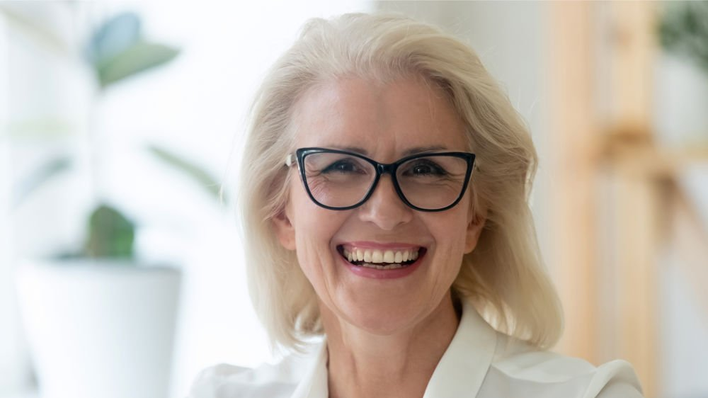 woman smiling dentures wareham ma